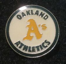 "☆ Authentic NEW 1985 Oakland ATHLETICS (A's) 1"" Circle LOGO Lapel Pin ENAMEL"