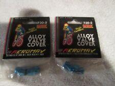 OLD SCHOOL BMX BLUE MONGOOSE GT TORKER SKYWAY ALLOY VALVE CAPS