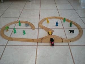 Wood Train Set Brio Thomas Maxim Cars Figure Tree Animal Bridge Track Accessory