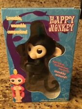 Electronic Interactive Fingerling Happy Monkey Finger Motion Pet Hot Toy - BLACK