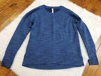 Athleta Sweatshirt Blue Long Sleeve Top Modal Blend SUPER SOFT Crew Neck Small
