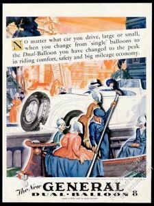 1929 Holland canal boat scene Walter Klett art General Tire vintage print ad