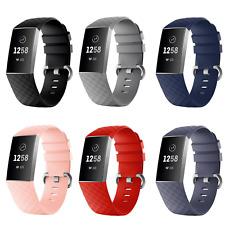 Ersatz Armband für Fitbit Charge 3 / 4 Fitness Sport Tracker Smartwatch Silikon