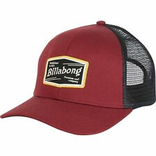 BILLABONG MENS BASEBALL CAP.WALLED MESH TRUCKER BRICK CURVED PEAK HAT 8S 02 41