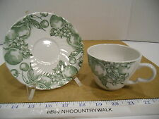 Wood & Sons English Green Fruit Tea Cup and Saucer Set - EUC