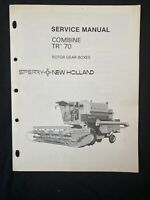 New Holland Service Manual Combine TR-70 Rotor Gear Boxes *1076,1077