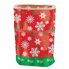 Festive Christmas Fling Bin Office Party Decoration 13 Gallons Xmas Snowflake UK