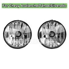 Pair Fog Lamp Clear Lens Light For Tahoe Avalanche Yukon Suburban 2007-2013