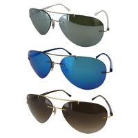 Ray Ban Mens RB8058 Titanium Pilot Sunglasses