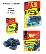 Big Cheese 6 15 30 All Weather Blocks Poison Block Bait Rat Mouse Mice Rodent