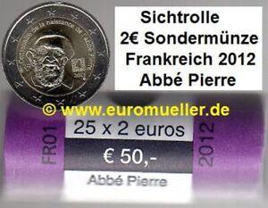 Frankreich Rolle 2 Euro Gedenkmünze  2012 - Abee Pierre