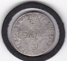 1697   King   William  III   Silver  Sixpence   -  British Coin