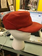 Mackinaw Hat Cap Red Felt Ear Flap Elmer Fudd Hunting Vintage Small