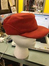 Mackinaw Hat Cap Red Felt Ear Flap Elmer Fudd Hunting Vintage Small