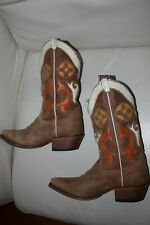 Ladies Justin Boots In Vintage Suede size 6.5