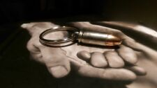 9mm Bullet Key Chain-Nickel Cased Won't Patina or Tarnish. Stays bright & shiny!