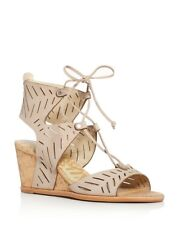 415e550dc5c Dolce Vita Langly Perforated Lace up Cork Wedge Sandals Size 11   E5 56 N