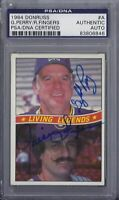 Gaylord Perry / Rollie Fingers Signed 1984 Donruss - PSA DNA
