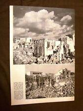 Stampa del 1942 Seconda guerra mondiale WW2 Bengasi distrutta e devastata Libia