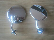 LUCAS STYLE WING MIRRORS STAINLESS STEEL TRIUMPH / MG / JAGUAR / *NEW*