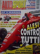 Auto & Sport ROMBO 17 1995 AYRTON SENNA un anno dopo parole testimonianze per ri