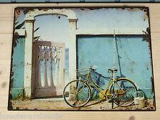 """Nostalgisches Blechschild """"Fahrrad"""" 33 x 25cm Shabby Chic maritime Dekoration"""