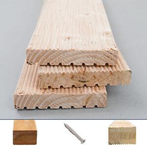 Douglasie Terrassendiele Holz massiv Komplettset Komplettbausatz 5-100 m²