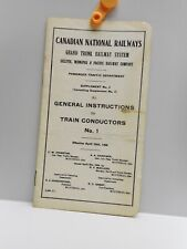 Vintage - CANADIAN NATIONAL RAILWAYS - Supplement No. 3 to GENERAL INSTRUCTIONS