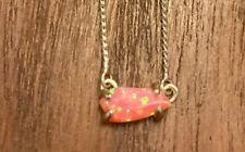 Nwot Kendra Scott Gold Jayde Magenta Pink Kyocera Opal Necklace