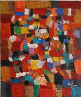 ALEXANDRIE PONS/Abstrait contemporain pièce unique format 65x54 cm