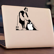 "BANKSY - SWEEPING Apple MacBook Decal Sticker fits 11"" 12"" 13"" 15"" & 17"" models"