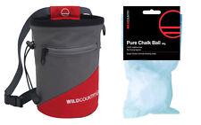 Wild Country Chalk Bag plus belt & a chalk ball rock climbing Bouldering bag