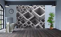 Abstracto 3d Rectangular Blanco Papel Pintado Pared Mural Foto (24067373) 3d