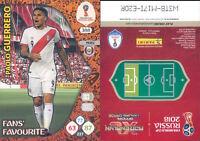 WC RUSSIA 2018 -Panini Adrenalyn-Card FANS' FAVOURITE  N.388-GUERRERO-PERU