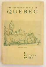 Vintage GUIDE TO THE STORIED STREETS OF QUEBEC CITY Canada LARGE FOLDING MAP