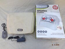 HOMEDICS SHIATSU CUSHION MASSAGER,NECK,BACK,SHOULDERS ETC,REMOTE CONTROL,VGC