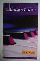 NEIL SEDAKA, 50 YEARS OF HITS - PLAYBILL - OCTOBER 26, 2007 Lincoln Center