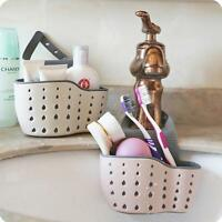 Kitchen Sink Sponge Holder Bathroom Hanging Strainer Organizer Storage Rack KV