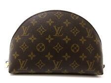 Authentic LOUIS VUITTON Monogram Trousse Demi Ronde M47520 PVC Leather 65507