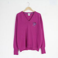 Vintage 90s Adidas Golf Lambswool Wool Made In UK Sweater Jumper 42 XL 5200