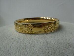 12k 1-20 Gold Filled Bangle Hinged Design Engraved on One Side