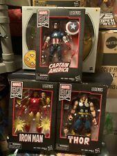 Marvel Legends 80th Anniversary Captain America Thor Iron Man Set NEW