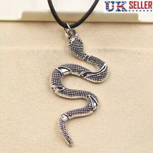 Snake Pendant Necklace,  Punk, Rock, Choker - UK Seller