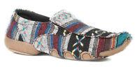 Roper Women's Liza Driving Moc Black Multi Slip on Shoes SIZES