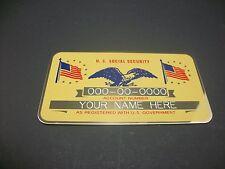 Custom Engraved Metal Social Security Card