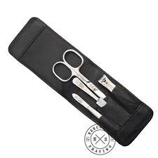 Niegeloh Black Cowhide 4 Piece Luxury Manicure Set (85448)