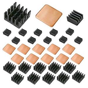 Lanpu 30 PCS Raspberry Pi Heatsink Kit Copper Raspberry Pi Aluminum Heatsink for