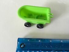 Vintage Fisher Price Little People Green CLOWN BATH TUB/CAR-FP Clown Brigade-657