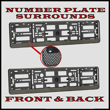 2x Number Plate Surrounds Holder Carbon for Ford Focus ST Hatchback
