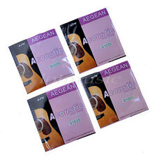 4 Sets 6 Strings Brass Wound For Acoustic Guitar Parts .010-.047""